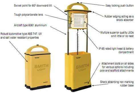 portable lighting for the construction hire industry