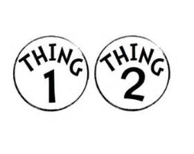 thing 1 and thing 2 stickers dr seuss theme nursery or