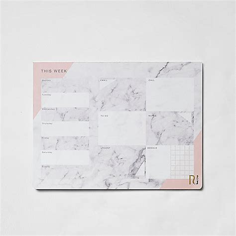 desk pads for women grey marble print a4 desk planner pad novelty and gadget
