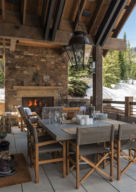 Ski In Ski Out Chalet In Montana With Rustic Modern Styling Chalet Ski And Patio