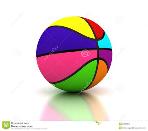 colorful basketball colorful basketball royalty free stock image image 27520816