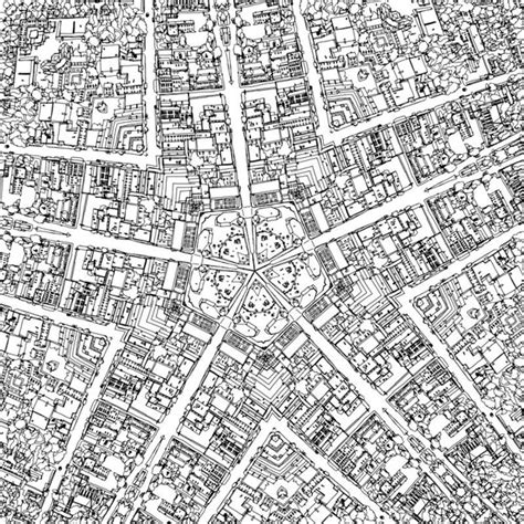 town map coloring page fantastic cities is a coloring book for grown ups citylab