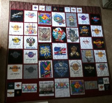 King Size T Shirt Quilt by Rock Cafe King Size T Shirt Quilt Rock Your Shopping Pinter