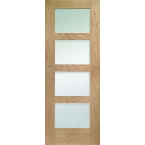 xl door xl joinery oak shaker with obscure glass door esprahome