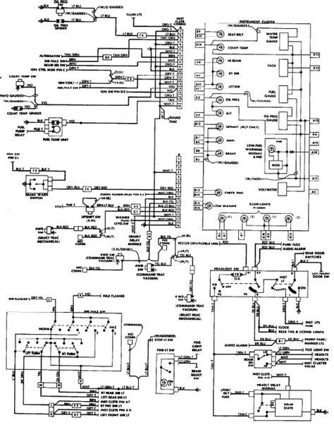 88 jeep wrangler engine wiring diagram get free image
