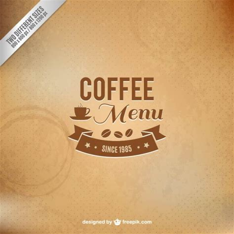 Coffee Menu Wallpaper | coffee menu background vector free download