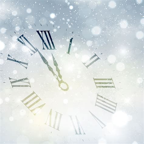 new year background happy new year clock background free vector