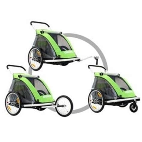 Belecoo 535s Stroller Green quot croozer kid for 2 535 3 in 1 alloy trailer green quot modern bike
