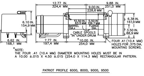 ramsey rep 8000 wiring diagram ramsey patriot 9500 winch