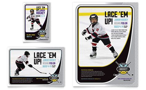 hockey card template microsoft junior hockey c flyer ad template word publisher