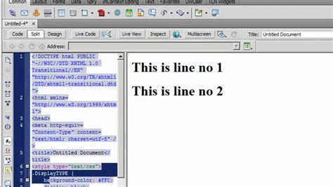 css tutorial display dreamweaver cs5 tutorial css property display none
