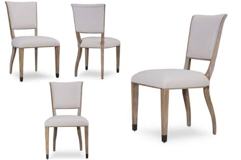 Transitional Grey Finished Upholstered Side Chairs Transitional Dining Chairs