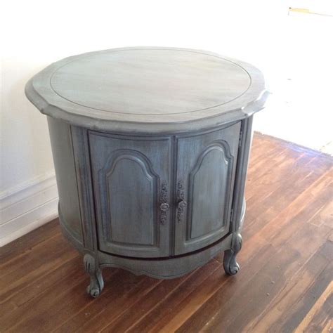 Chalk Painted Coffee Tables Chalk Painted Blue Grey Provincial Side Coffee Table My Painted Furnitures