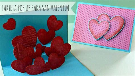 como hacer manualidades de san valentin 15 manualidades tarjeta pop up para san valent 237 n manualidades para san
