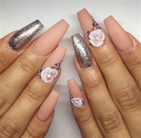 fotos uñas de acrilico decoradas u 241 as acrilicas con glitter color plateado cool gals