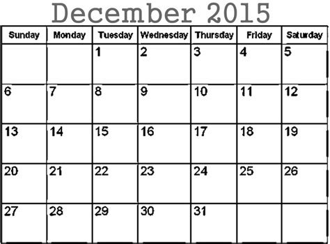 December 2015 Calendar December 2015 Calendar Image Calendar Picture Templates