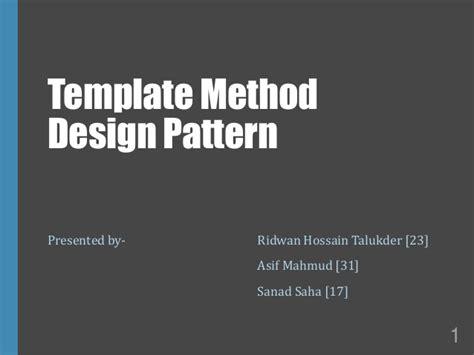 presentation on template method design pattern