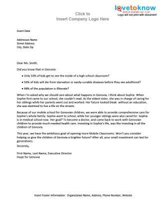 sle letter asking for money donations sle business