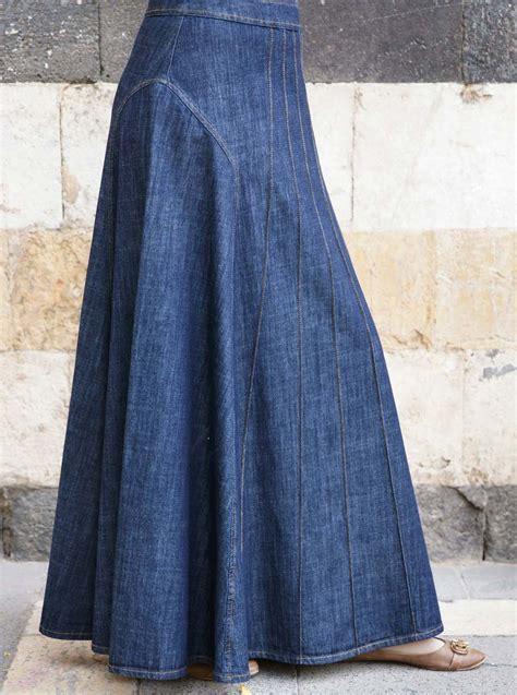 Maxy Denim alana denim maxi skirt maxi skirts