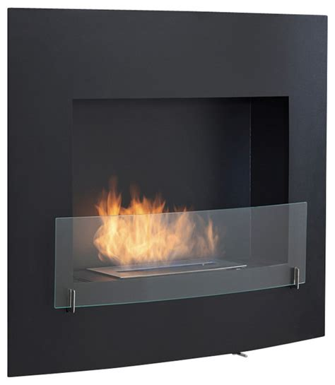 wall mounted ventless bio ethanol fireplace modern