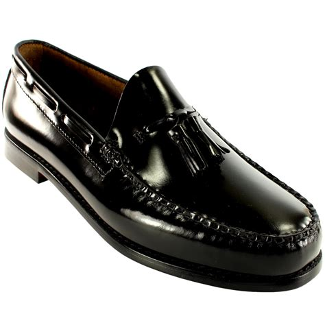 loafer leather shoes mens g h bass larkin slip on tassel smart loafer