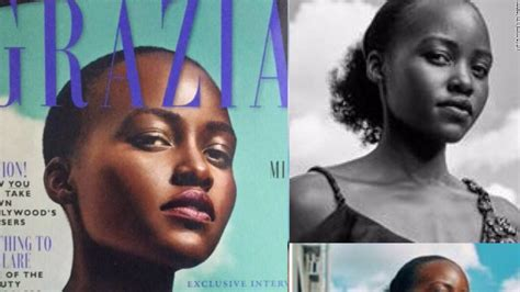 How To Change Hairstyle In Photoshop Touch by Lupita Nyong O Says Magazine Edited Hair In Cover