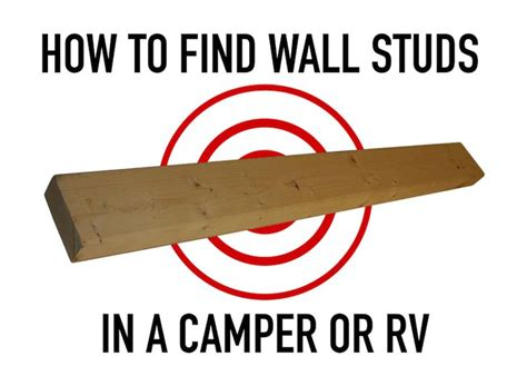 how to find wall studs in a cer trailer or rv morning