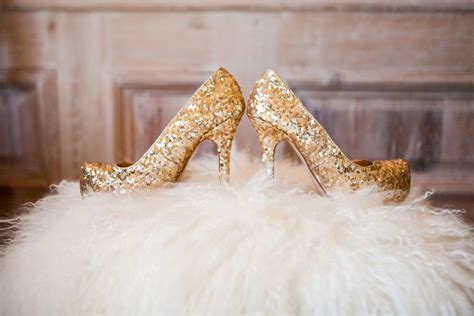 Gold Heels For Wedding by Wedding Ideas How To Decorate With Sequins Glitter