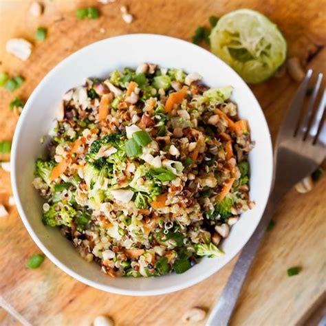 protein quinoa bowl thai veggie quinoa bowl recipe gluten free vegan