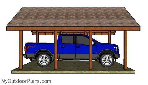 build  carport gable roof myoutdoorplans  woodworking plans  projects diy