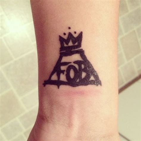 fall out boy tattoo so getting this tattoos