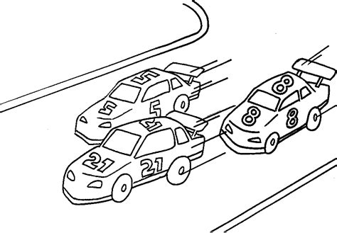 Race Cars Coloring Pages Race Car Coloring Pages