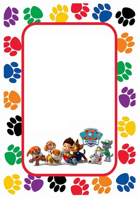 paw patrol pop up card template tarjetas stickers etiquetas marcos para fotos paw
