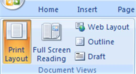 print layout view word 2007 print layout view document view 171 editing 171 microsoft