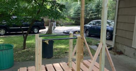backyard pull up station the invention factory backyard pullup and dip bar system