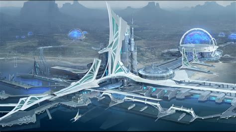 extra wallpapers futuristic port