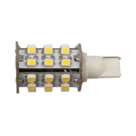 Led Light Bulbs For Travel Trailers Hqrp 4 Pack T10 Wedge Base 30 Leds Smd 3528 Led Bulbs Warm White For 194 168 Cruiser Rv