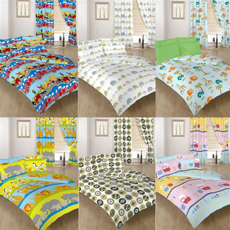 childrens comforters single double size duvet cover set curtains bedding