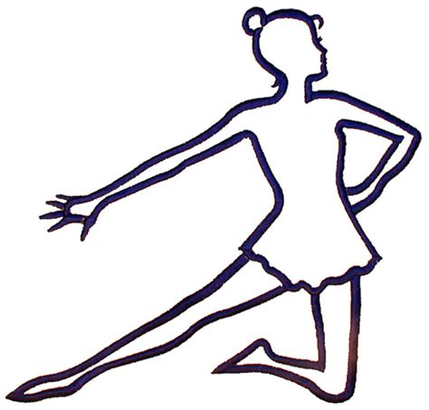 Dancer Outline by Arts Embroidery Design Kneeling Dancer Outline From Grand Slam Designs