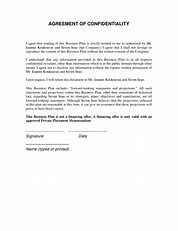 statement of confidentiality business plan