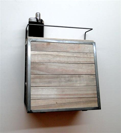Fold Out Shelf by Aged Wood And Metal Wall Mounted Bar W Fold Out Shelf
