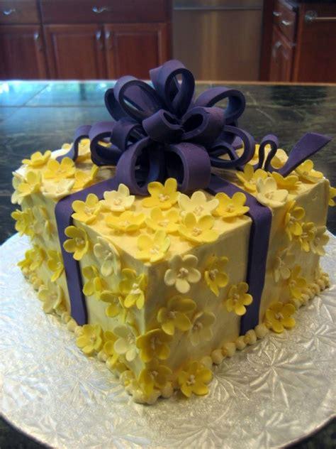 Soft Yellow And Purple Cake Sensational Cakes