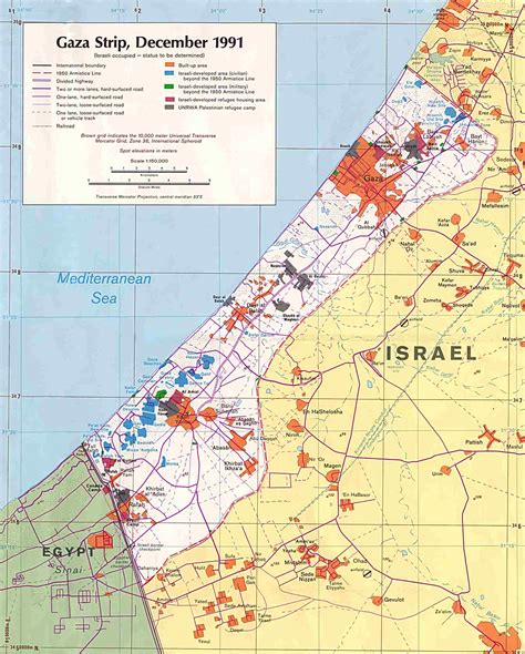 middle east map gaza west bank and gaza maps perry casta 241 eda map collection