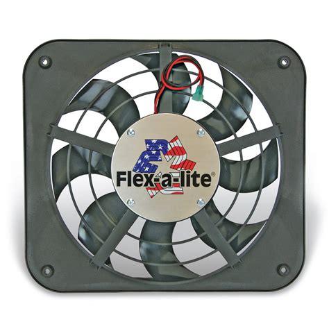 flex a lite adjustable electric fan controllers flex a lite automotive 12 1 8 inch lo profile s blade