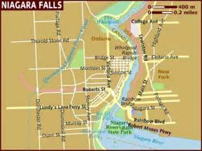 map of niagara falls