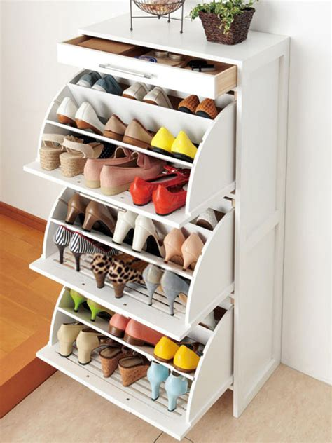 stylish shoe storage white shoe rack storage