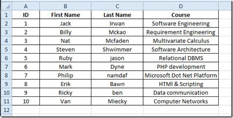 format excel last name first name excel 2010 merge cells concatenation