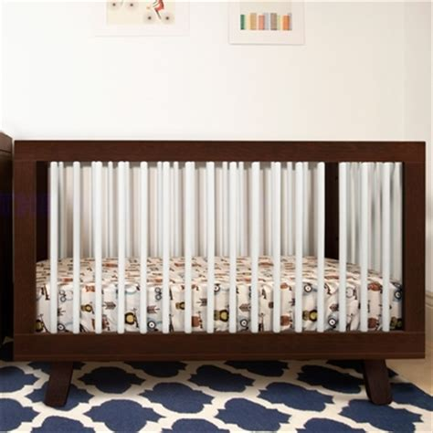 Two Tone Cribs White Espresso by Babyletto Hudson 3 In 1 Convertible Crib In Two Tone