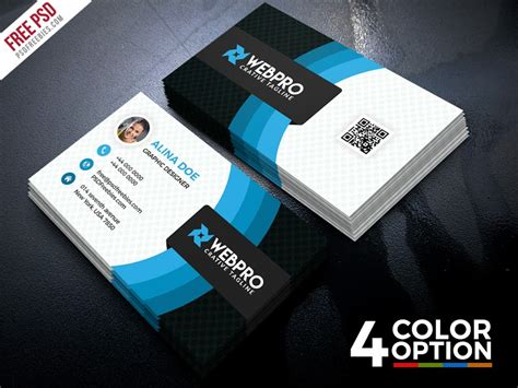 corporate business card template psd psd