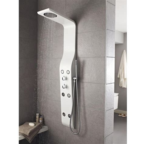 Shower Tower by Hudson Reed Glacier White Thermostatic Shower Tower